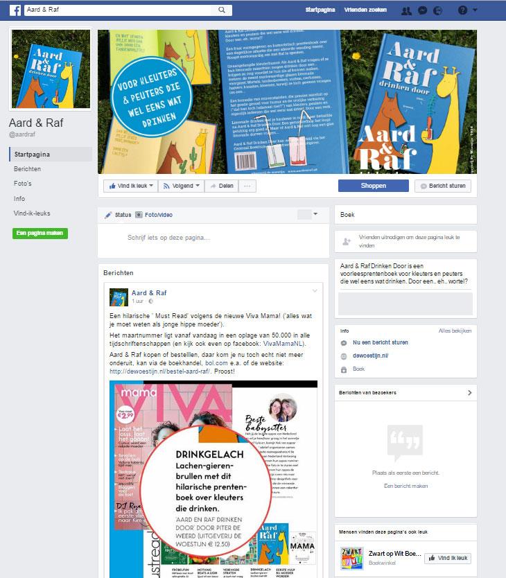Like Aard & Raf op Facebook